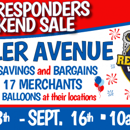 FIRST RESPONDERS WEEKEND – Merchant Sidewalk Sale