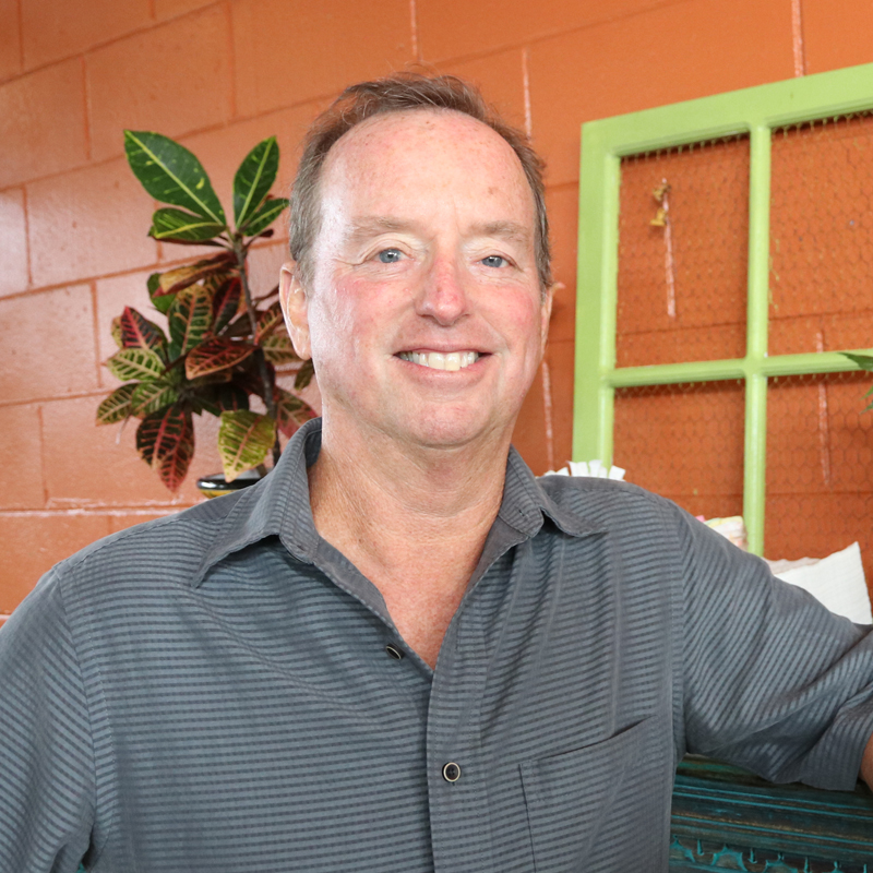Photo of Matthew Clancy owner of Cafe Verde on Flagler Avenue