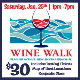 Flagler Avenue Wine Walk – Saturday, January 25th
