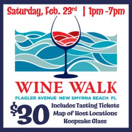 Flagler Avenue Wine Walk – Saturday, February 22nd