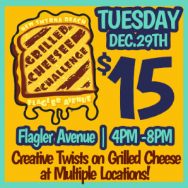 New Smyrna Beach Grilled Cheese Challenge on Flagler Avenue